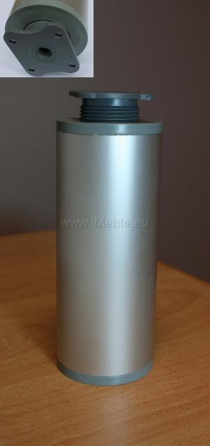 Nóżka aluminiowa H-10 g-6 okrągła