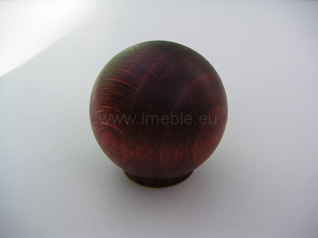 Gałka drewno kula mahoń