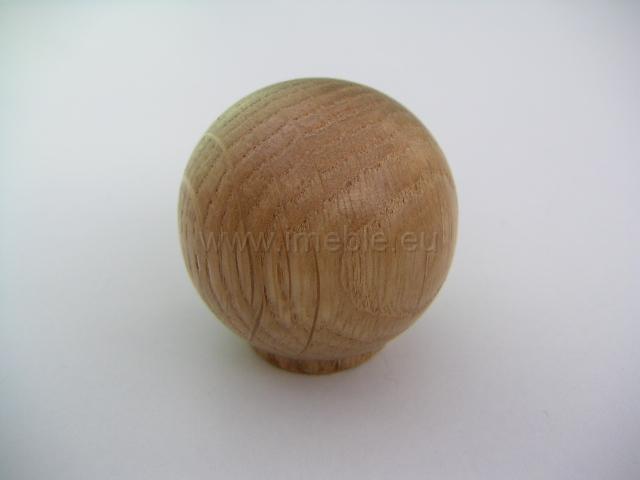Gałka drewno kula dąb jasny