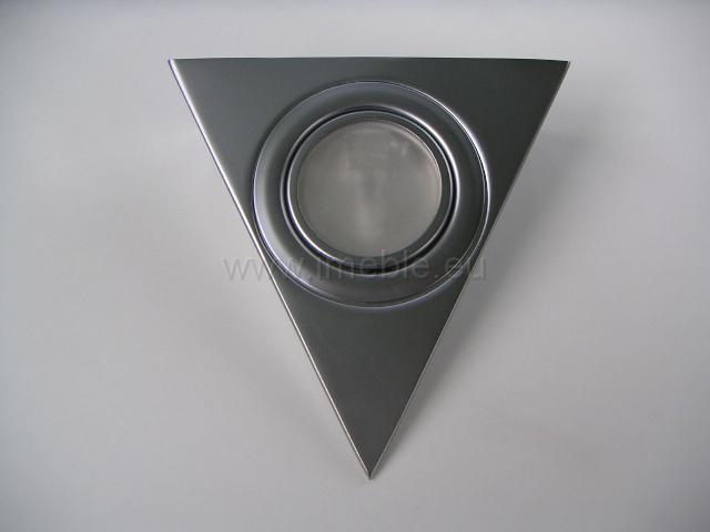 Lampka/Trójkąt podświetleniowy aluminium bez wyłącznika