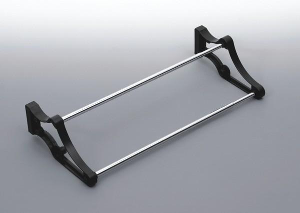Stojak na obuwie E24  40-700 metal/tworzywo chrom/czarny