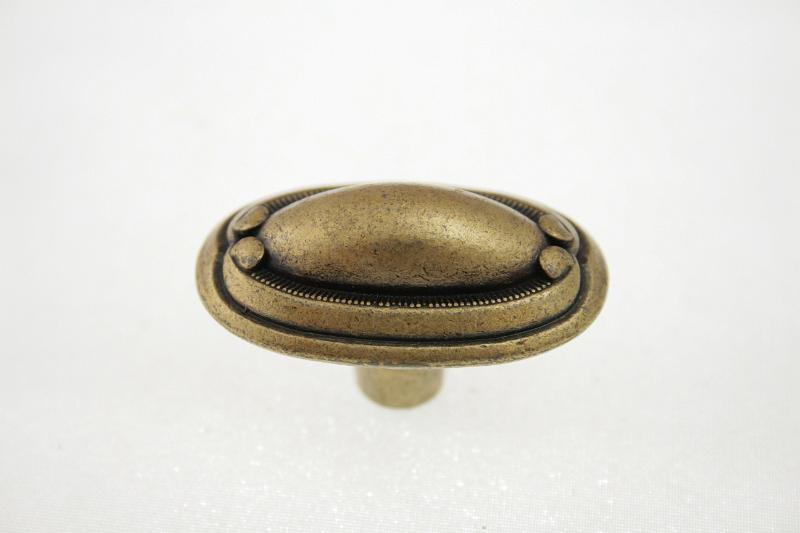 Gałka meblowa z szyldem  WP-1146 , G4, stare złoto, GTV