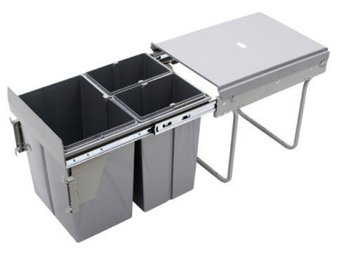 Wysuwany segregator odpadów 40, 20L+10L+10L (JC601M)