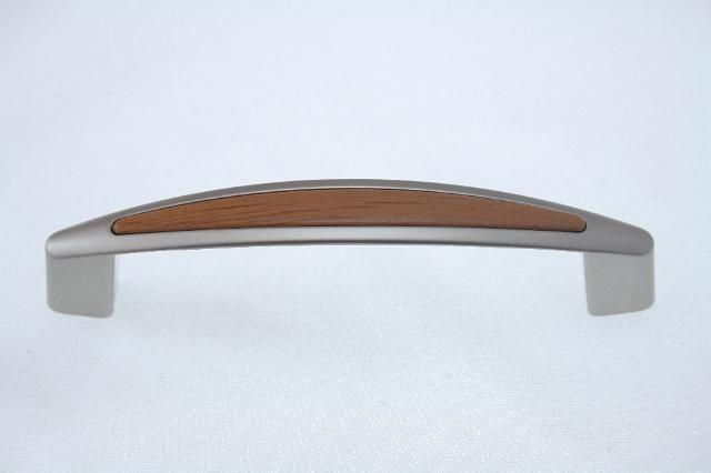Uchwyt meblowy UF1906, 128mm, satyna - wiśnia, gamet