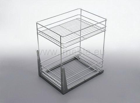 Kosz Cargo mini dwupoziomowe 20 dolne srebro