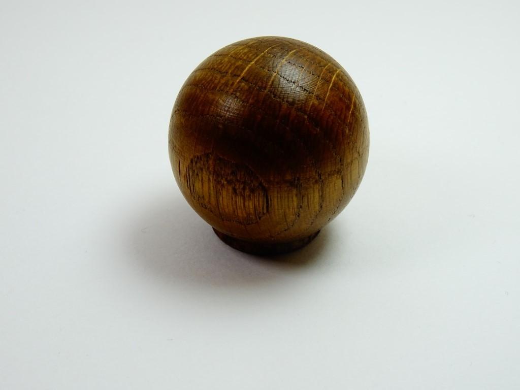Gałka drewno kula dąb ciemny rustikal