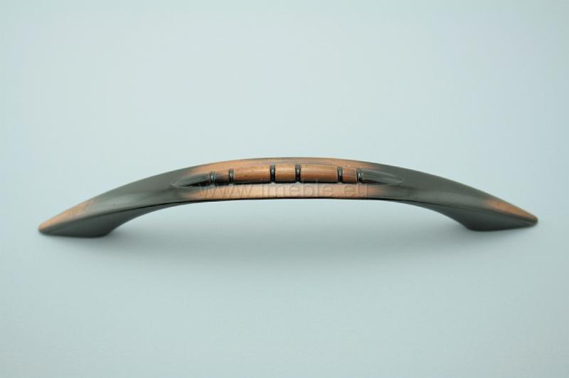 Uchwyt meblowy C-663 G10 miedź , rozstaw 96mm