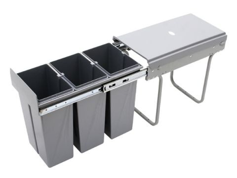 Wysuwany segregator odpadów 30, 3x10L (JC604)