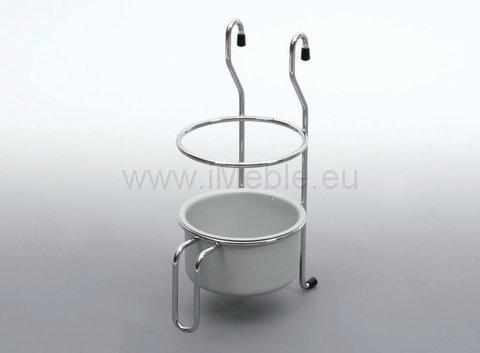 Koszyk na sztućce duzy chrom - aluminium