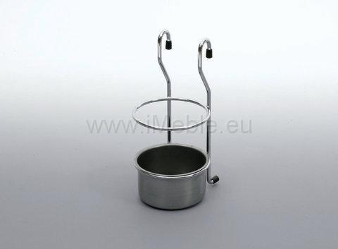 Koszyk na sztućce maly chrom - aluminium