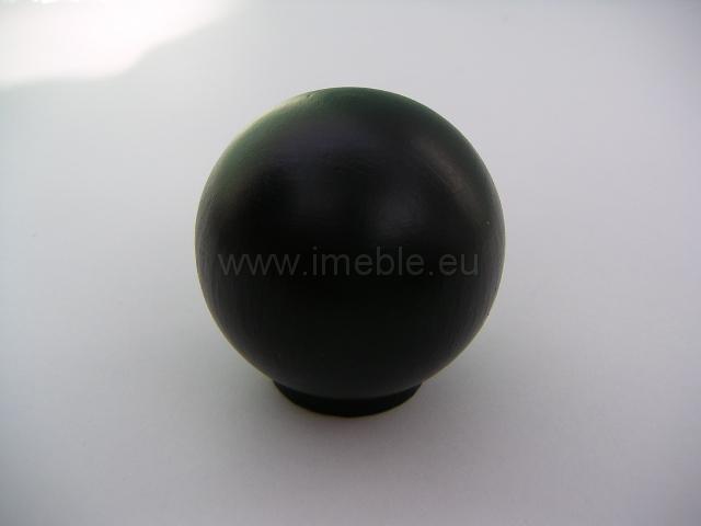 Gałka drewno kula czarna