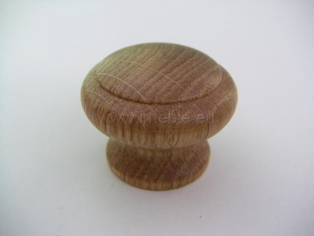 Gałka drewno mała dąb jasny