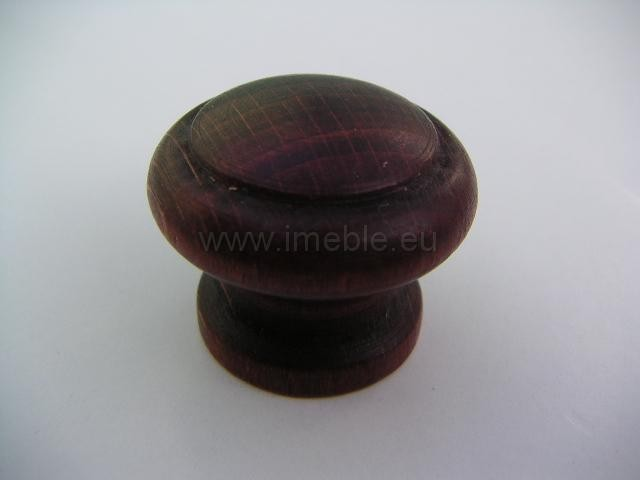 Gałka drewno mała mahoń