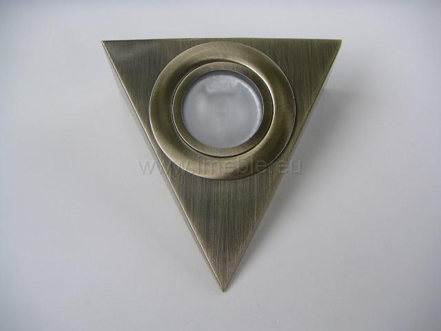 Lampka/Trójkąt podświetleniowy stare złoto (antyk) bez wyłącznik