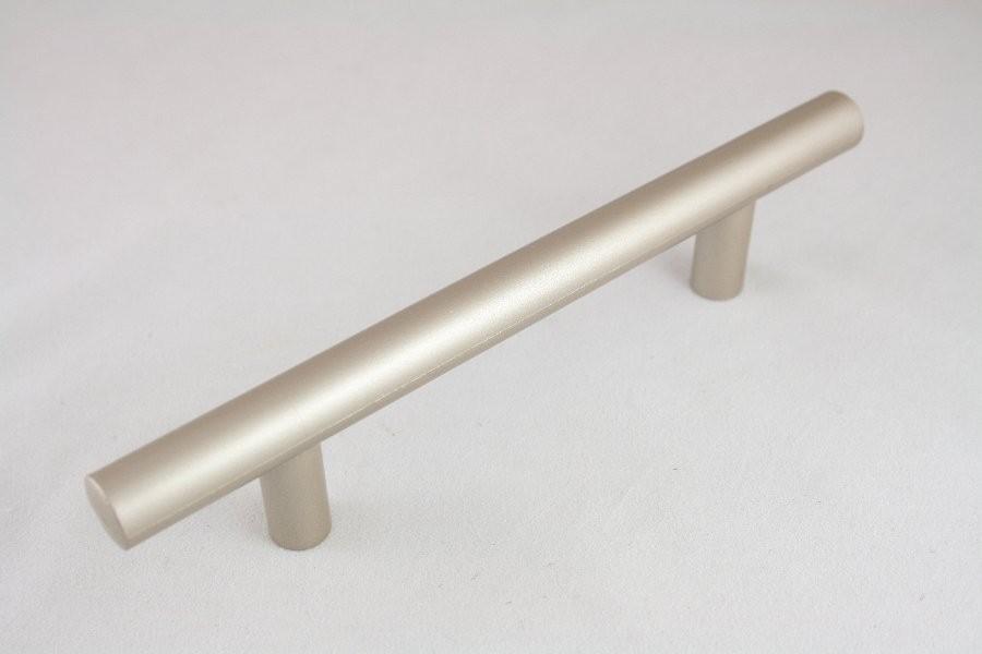 Uchwyt meblowy  reling, 96mm, satyna-tworzywo