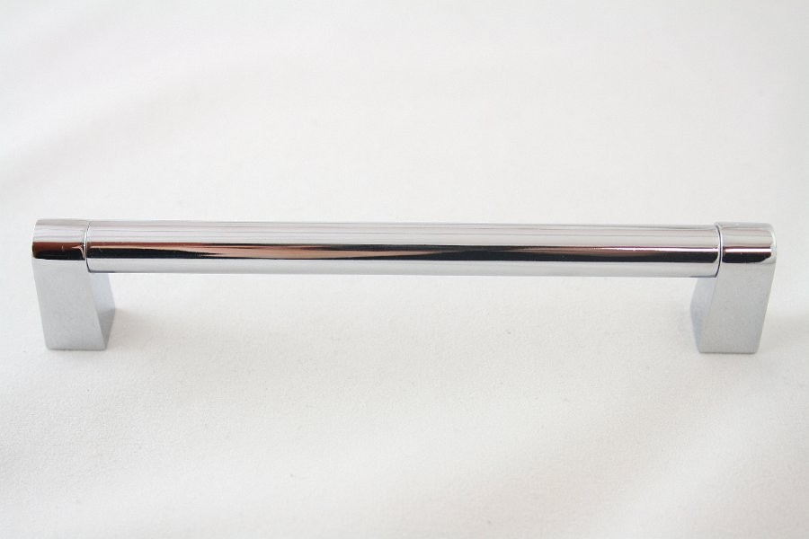 Uchwyt meblowy relingowy  RE5204, 128mm, chrom, gamet