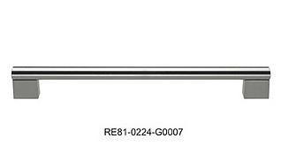 Uchwyt meblowy RE8107, szlif, gamet, 160mm