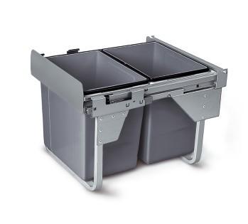 Wysuwany segregator odpadów 45, 2x 20 L GTV