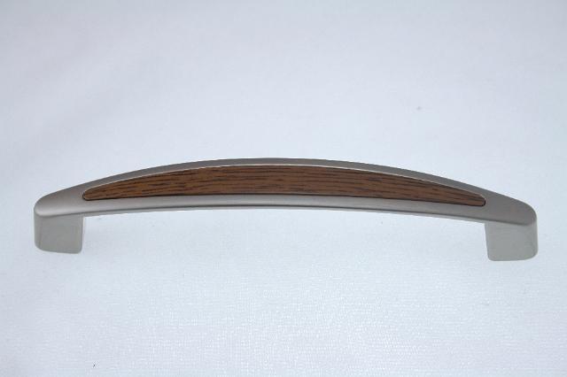 Uchwyt meblowy UF1906, 128mm, satyna - rustikal, gamet