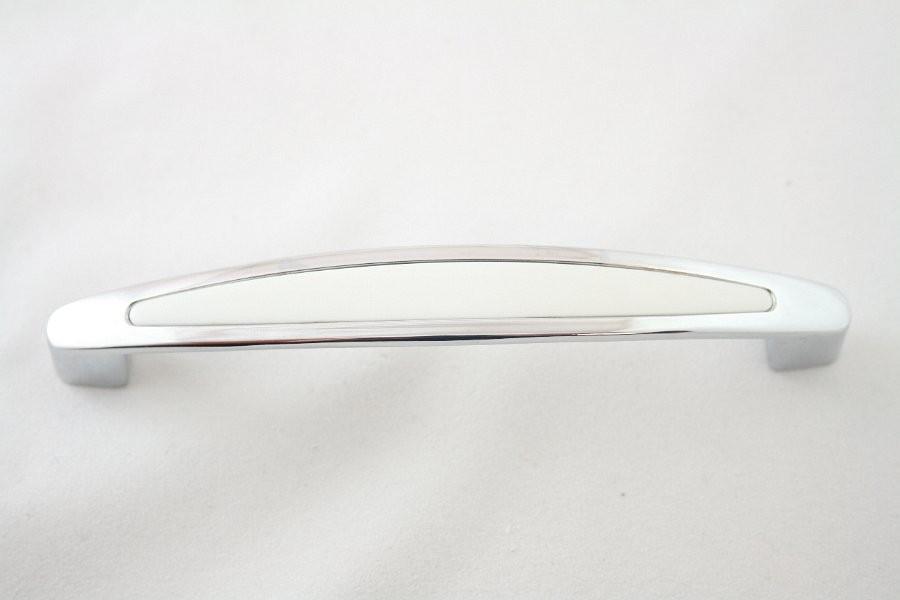 Uchwyt meblowy UF1904, 128mm, chrom - biały, gamet