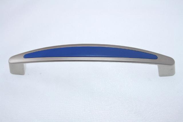 Uchwyt meblowy UF1906, 128mm, satyna - niebieski, gamet