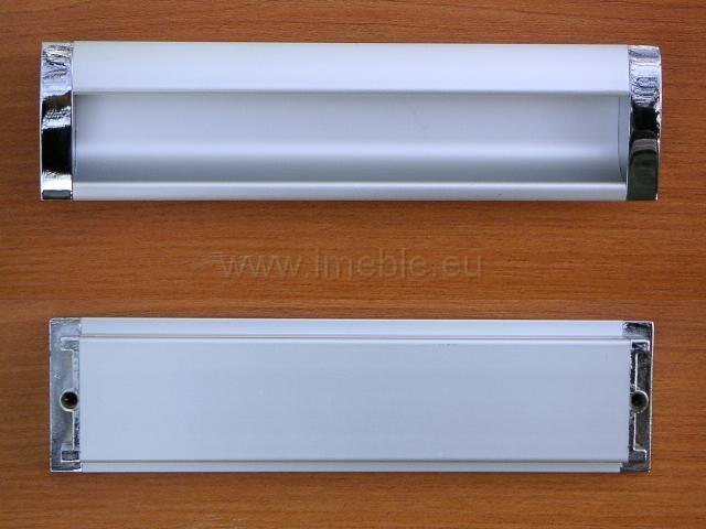 Uchwyt wpuszczany 160 aluminium/chrom