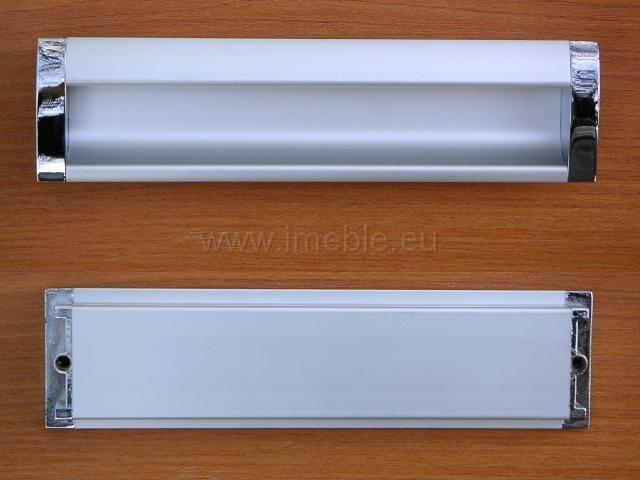 Uchwyt meblowy wpuszczany UA-08/192mm  aluminium / chrom