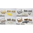 Zawias i uchwyt do szyb aluminium